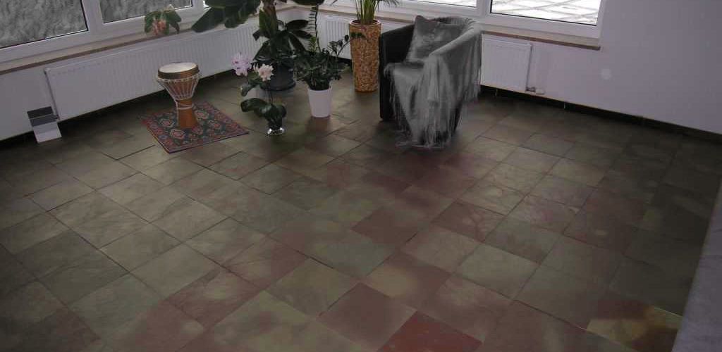 flooring with exotic slate